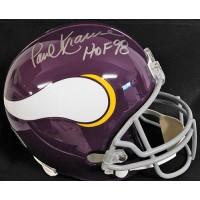 Paul Krause Minnesota Vikings Signed Full Size Replica Helmet JSA Authenticated
