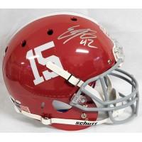Eddie Lacy Alabama Crimson Tide Signed Full Size Replica Helmet JSA Authentic
