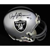 Daryle Lamonica Oakland Raiders Signed Mini Helmet JSA Authenticated