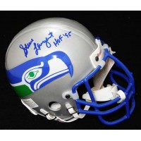 Steve Largent Seattle Seahawks Signed Authentic Mini Helmet JSA Authenticated