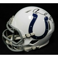Andrew Luck Indianapolis Colts Signed Mini Helmet JSA Authenticated
