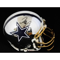 Terence Newman Dallas Cowboys Signed Chrome Mini Helmet JSA Authenticated