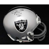 Jim Otto Oakland Raiders Signed Football Mini Helmet PSA/DNA Authenticated