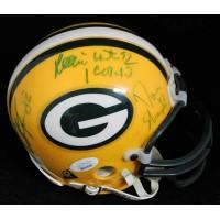 Green Bay Packers Reggie White +4 Signed Mini Helmet JSA Authenticated