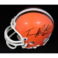 Travis Prentice Cleveland Browns Signed Mini Helmet JSA Authenticated