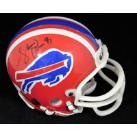 Shawn Price Buffalo Bills Signed Mini Helmet JSA Authenticated