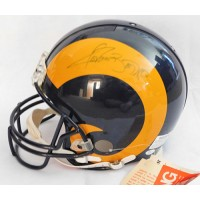Los Angeles Rams Jerome Bettis and Lawrence Phillips Signed Full Size Helmet JSA Authenticated