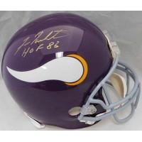 Fran Tarkenton Minnesota Vikings Signed Full Size Authentic Helmet JSA Authentic
