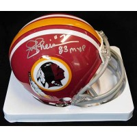 Joe Theismann Washington Redskins Signed Replica Mini Helmet JSA Auth.