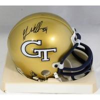 Gerris Wilkinson Georgia Tech Yellow Jackets Signed Mini Helmet JSA Authenticated