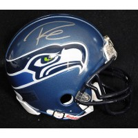 Russell Wilson Signed Seattle Seahawks Riddell Mini Helmet JSA Authenticated