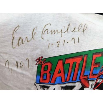 Earl Campbell Signed The Battle of the Best T-Shirt JSA Authenticated