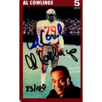 1995 Int'l Sports Show San Francisco 49ers Al Cowlings Signed Phone Card JSA Authenticated