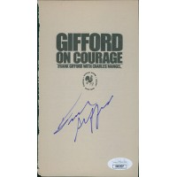 Frank Gifford New York Giants Signed Book Page JSA Authenticated