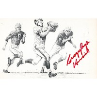 Elroy Crazylegs Hirsch Los Angeles Rams Signed 3x5 Postcard JSA Authenticated