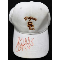 Lane Kiffin USC Trojans Signed White Logo Hat JSA Authenticated