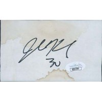 John Kuhn Green Bay Packers Signed 3x5 Index Card JSA Authenticated