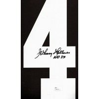Johnny Lattner Signed Notre Dame Fighting Irish Jersey Number 4 JSA Authenticated