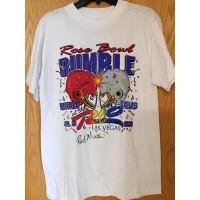 Rod Martin Signed Rose Bowl Rumble Rio Las Vegas T-Shirt JSA Authenticated