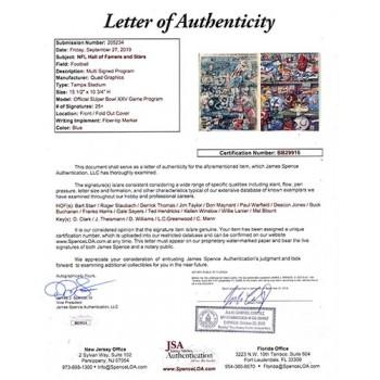 NFL Hall Of Famers & Stars Multi Signed Super Bowl XXV Program JSA Authenticated