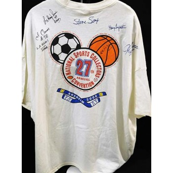 National Sports Convention Signed Shirt by 6 Players JSA Authenticated