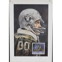 Jim Otto Oakland Raiders Signed Hall of Fame Lithograph JSA Authenticated