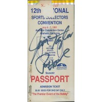 Green Bay Packers Jim Taylor and Paul Hornung Signed Ticket JSA Authenticated