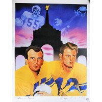 Los Angeles Rams Elroy Hirsch & Tom Fears Signed 21x28 Lithograph PSA Authentic