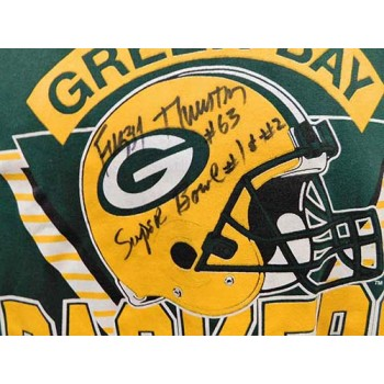Fuzzy Thurston Green Bay Packers Signed T-Shirt JSA Authenticated