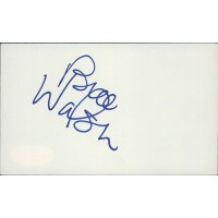 Bill Walsh 49ers Football Coach Signed 3x5 Index Card JSA Authenticated