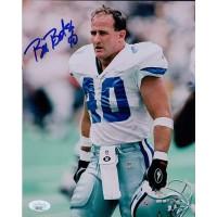 Bill Bates Dallas Cowboys Signed 8x10 Matte Photo JSA Authenticated