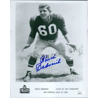 Chuck Bednarik Philadelphia Eagles Signed 8x10 Glossy Photo JSA Authenticated