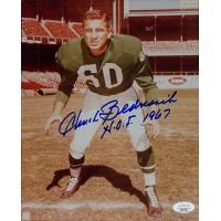 Chuck Bednarik Philadelphia Eagles Signed 8x10 Glossy Photo JSA Authenticated