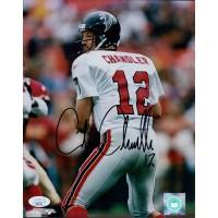 Chris Chandler Atlanta Falcons Signed 8x10 Glossy Photo JSA Authenticated