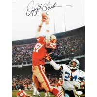 Dwight Clark San Francisco 49ers Signed 11x14 Matte Photo JSA Authenticated
