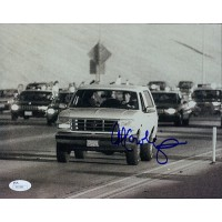 Al Cowlings Signed 8x10 Photo Of Al Driving OJ'S White Bronco Police Chase JSA Authenticated