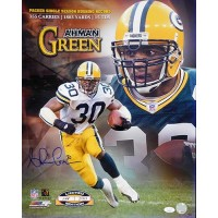 Ahman Green Green Bay Packers Signed 16x20 Glossy Photo JSA Authenticated