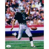 Ray Guy Oakland Raiders Signed 8x10 Glossy Photo JSA Authenticated