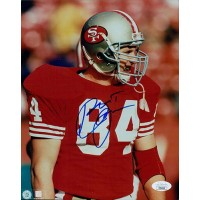 Brent Jones San Francisco 49ers Signed 8x10 Glossy Photo JSA Authenticated