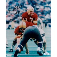 Bill Kilmer Washington Redskins Signed 8x10 Glossy Photo JSA Authenticated