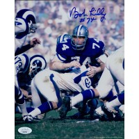 Bob Lilly Dallas Cowboys Signed 8x10 Glossy Photo JSA Authenticated