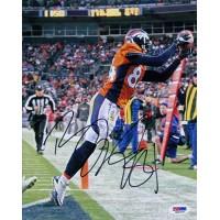 Brandon Lloyd Denver Broncos Signed 8x10 Matte Photo PSA Authenticated