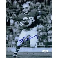 Hugh McElhenny New York Giants Signed 8x10 Glossy Photo JSA Authenticated