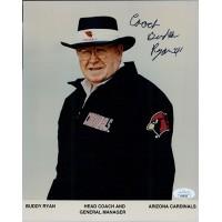 Buddy Ryan Coach Arizona Cardinals Signed 8x10 Glossy Photo JSA Authenticated