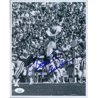 Charlie Sanders Detroit Lions Signed 8x10 Glossy Photo JSA Authenticated