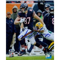 Adam Shaheen Chicago Bears Signed 8x10 Matte Photo Bekett Authenticated BAS