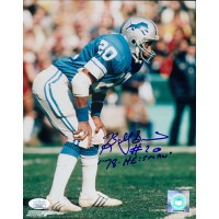 Billy Sims Detroit Lions Signed 8x10 Glossy Photo JSA Authenticated