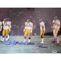 Steel Curtain Pittsburgh Steelers Signed Glossy 11x14 Photo PSA Authenticated
