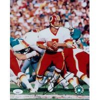 Joe Theismann Washington Redskins Signed 8x10 Glossy Photo JSA Authenticated