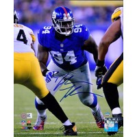 Dalvin Tomlinson New York Giants Signed 8x10 Matte Photo Steiner Authenticated
